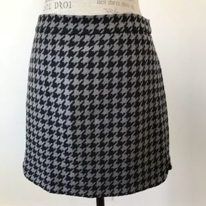 J. Crew Houndstooth Skirt